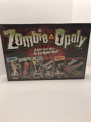 Zombie Party Games Halloween (Zombie-opoly Board Game Spooky Zombie Halloween Party Game Night 8+ New)