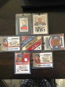 Canadiens hockey cards rare bleu-blanc-rouge LOT au complet