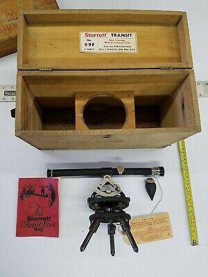 Vintage Starrett No. 99f Transittelescope With Ground Level Scope Original Box