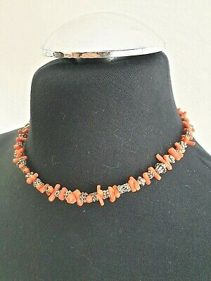 60s -70s Jewelry – Necklaces, Earrings, Rings, Bracelets UNUSUAL ORIGINAL VINTAGE NATURAL CORAL BRANCH NECKLACE Silver Tone $17.95 AT vintagedancer.com