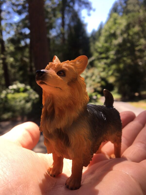 """AUSTRALIAN TERRIER Dog Statue 3"""" High Collectible Figurine New Canine"""
