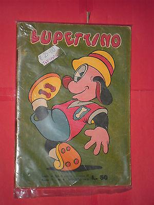 LUPETTINO N° 5 DEL 1950-COMICO-MANCA GIOCO CENTRALE-PEGASO ROMA -CON BANCONOTTA
