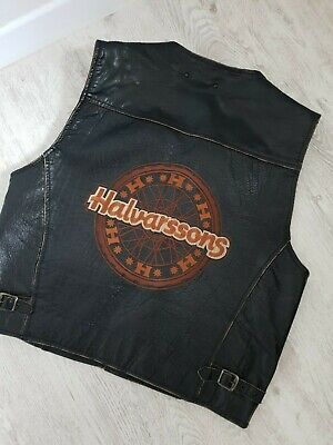 Halvarssons fine mens Biker Leather Waistcoat/Gilet,very good cond.size M World. for sale  Shipping to Nigeria