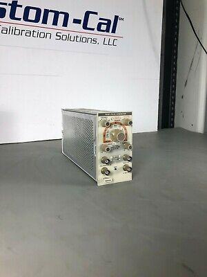 Tektronix Pg 501 Pulse Generator Plug-in Lab Tested