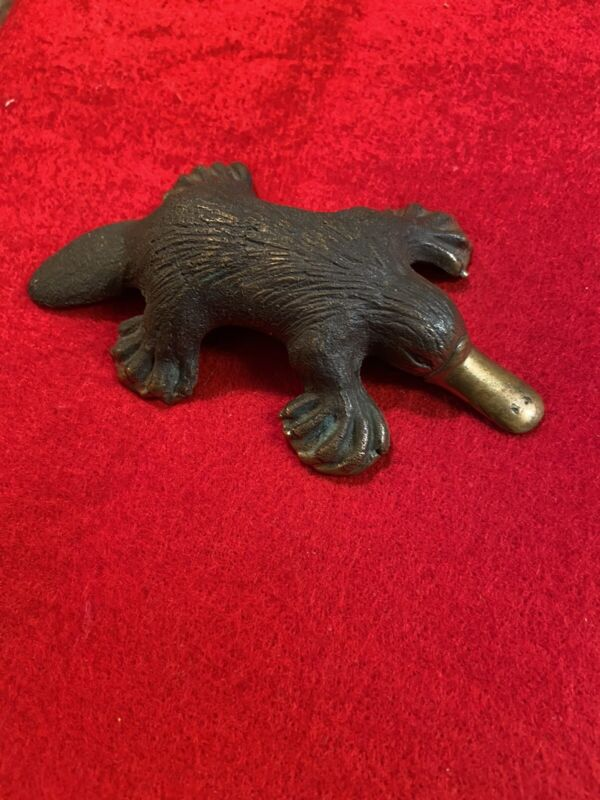 australia art sculpture Bronze platypus Signed By Mary mitchelmore