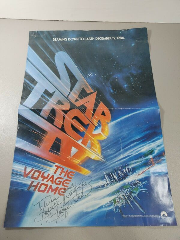 Star Trek IV: The Voyage Home (1986) original movie poster George takei signed