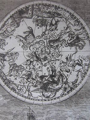 MALLET: Engraving Celestial Map Constellations Stars III - 1685