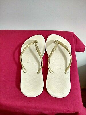 Women's Havaianas Slim Flip Flops Sand Light Gold US 7-8, EUR 41/2, 39-40