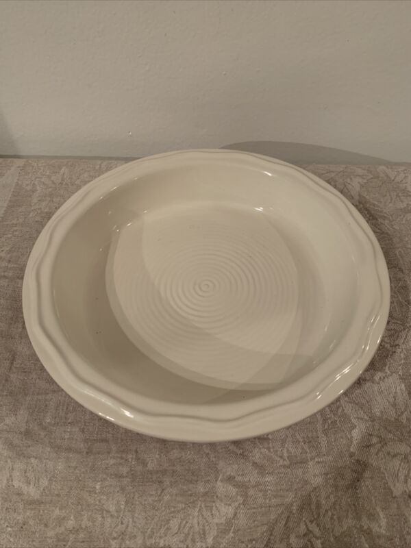 Mason Cash & Co Scalloped Pie Plate Red -Stoneware England