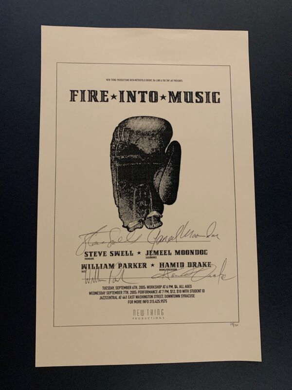Fire Into Music Signed Numbered RARE Autographed William Parker Hamid Drake JAZZ