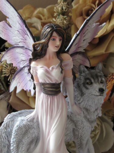 """10 1/2"""" Fairyland Legends Fairy & Wolf Figurine Brand NEW by Pacific Giftware"""