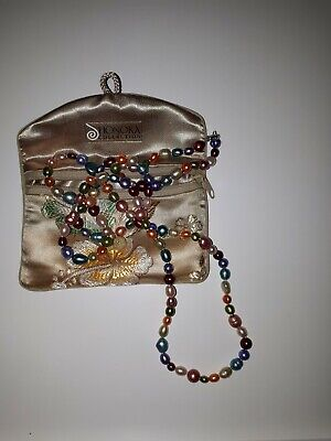 Honora Collection Multi Coloured Beaded Pearl Long Necklace