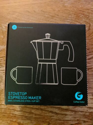 Coffee Gator Stovetop Personal Espresso Maker Stainless Stee