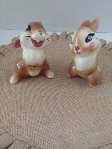 Disney American Potteries Thumper & Miss Bunny Figurines 1940