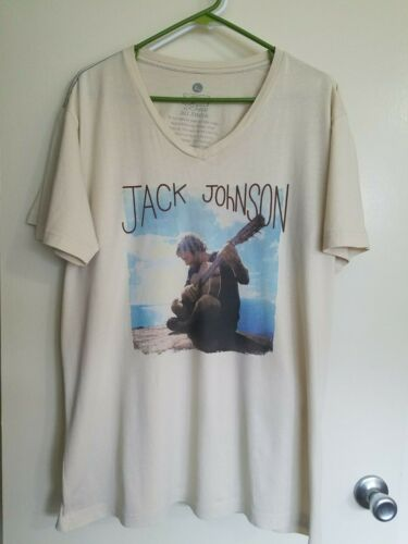 Jack Johnson Concert Unisex V-Neck Tee, ***New***, XL. 2 Available.