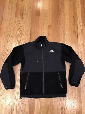 The North Face Denali Fleece Full Zip Up Jacket Mens Small S Black Hiking