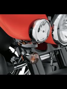 Harley Davidson black passing light brackets