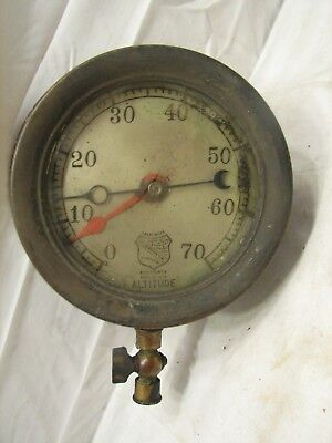 Ashcroft Altitude Steam Pressure Gauge Steampunk Industrial Tool