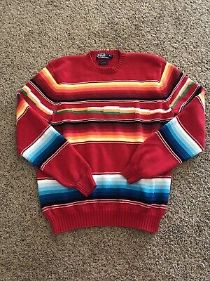 POLO Ralph Lauren Mens L Sweater Southwestern Aztec