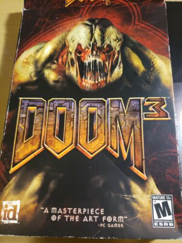 Computer Games - Doom 3 (PC, 2004) Big Box PC Computer Game Complete