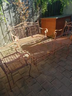 Rustic looking iron outdoor furniture