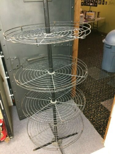 "25"" Round Wire Tall Stand Retail Store Floor Display Fixture Rack  Metal Vintage"
