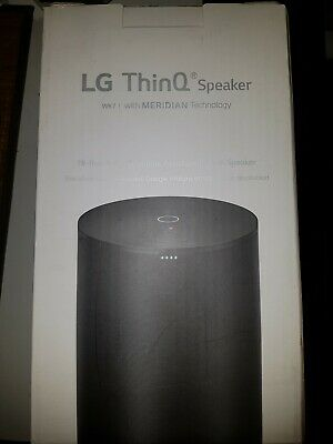 LG ThinQ WK7 Smart Speaker mit Sprachsteuerung App-steuerbar, Bluetooth, Schwarz