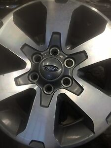 """18"""" F-150 fx4 rims with brand new Arctic Claws.   Prince George British Columbia image 1"""