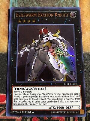 Yugioh Evilswarm Exciton Knight BLLR-EN068 Ultra Rare 1st Edition
