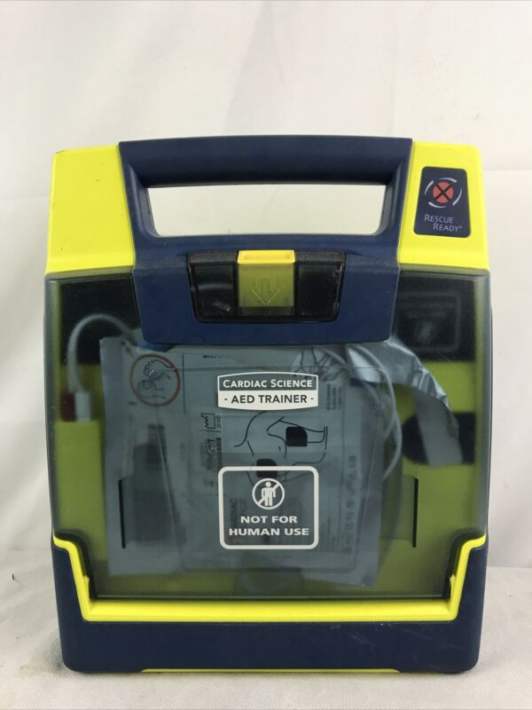Cardiac Science AED Trainer with Training Pads Used