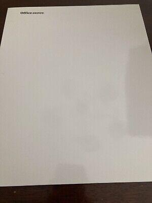 Office Depot Folder 2 Pocket White Laminated Paper 3 Hole