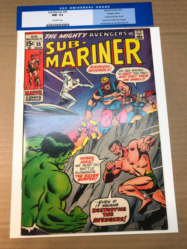 Sub-Mariner #35 (1971) 9.2 OW Western Penn Pedigree Silver Surfer Defenders