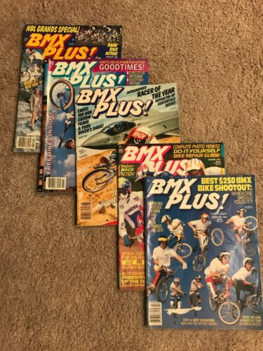 Vintage 1990-1991 BMX Plus! magazine, 5 issues, RARE