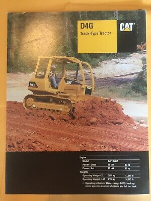 Cat Caterpillar D4g Crawler Tractor Dozer Specifications Brochure Book Manual