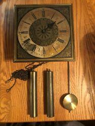 Vintage German Linden 2 Weight BIM BAM Chime Wall Clock !