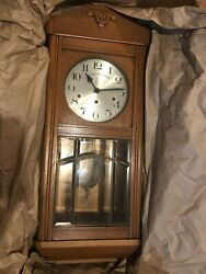 Antique German Wall Clock w/ Westminster Chime