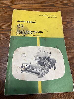 John Deere 45 Combines Operators Manual Omh451158