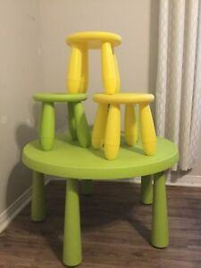 $40 - IKEA Children's Table with Stools