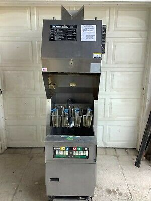 Giles Fsh-2-ph Ventless Hood And Pitco Electric Fryer 3 Stage Filter Tested