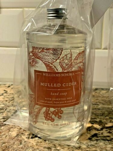 WILLIAMS SONOMA MULLED CIDER Hand Soap 16oz