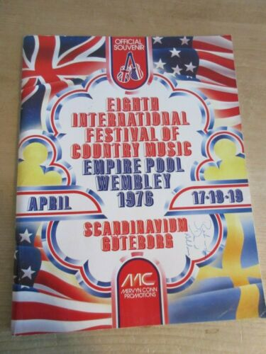 8th International Festival of Country Music 1976 Souvenir Programme Signed Copy