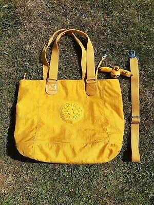 Large kipling tote bag, yellow