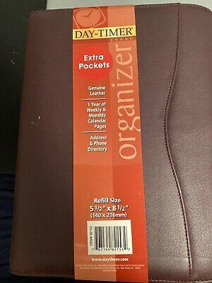 Day Timer Refill Size Organizer 7 Ring Desk Size 5-12 X8-12 Green Scuffed