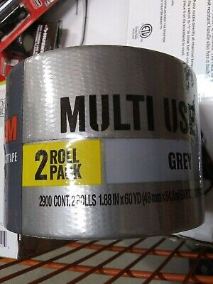 New Sealed 3m Multi-use Duct Tape- 60 Yd - 2 Pack Grey Color