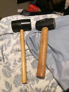 Rubber and wooden mallet