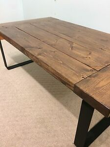 Rustic industrial modern custom coffee table