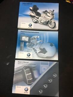 BMW K1600 GTL Riders manual service books