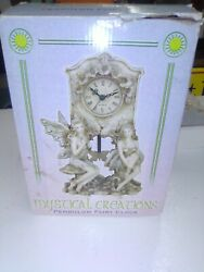 Fairy Pendulum Clock By Mystic Creations Brand New, opens box ,batt op. LOOOK !