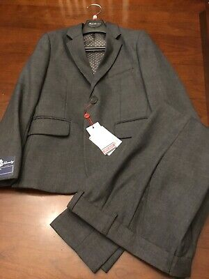 English Laundry Boys Two Piece Suit Gray Size 8 Jacket Pants Slim Cut FREE -