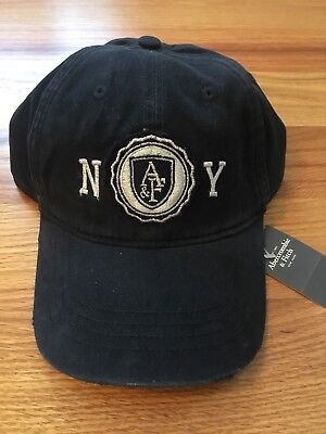 NWT Abercrombie Fitch by Hollister Women Summer NY Cap Hat Navy